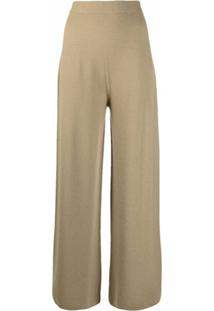 12 Storeez Calça Pantalona De Tricô - Verde