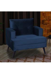 Poltrona Valéria 00606.0433 Azul Escuro/Veludo - Matrix