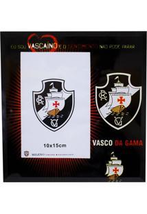 Porta Retrato Minas De Presentes 1 Foto 15X10Cm Vidro - Vasco Preto
