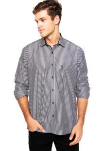 Camisa Aleatory Bordado Cinza/Branca