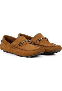 Mocassim Couro Walkabout Charlie Nobuck Masculino - Masculino-Caramelo
