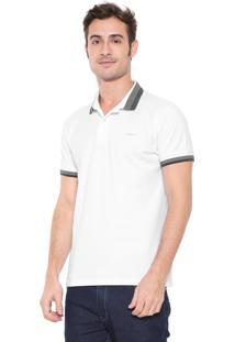 Camisa Polo Colcci Reta Logo Branca