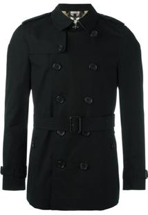 Burberry Trench Coat Com Cinto - Preto
