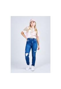 Calça Jeans Skinny Blue Escuro Gang Feminina