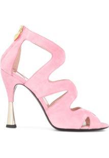 Escada Sandália Com Vazados - Rosa
