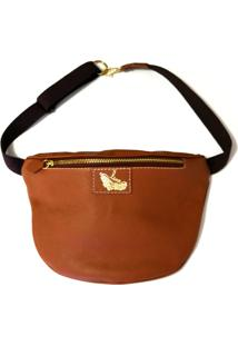 Pochete Line Store Leather Caramelo