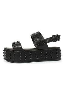 Sandália Birken Damannu Shoes Patty Spikes Preto