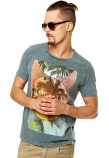 Camiseta Colcci Reta Cinza