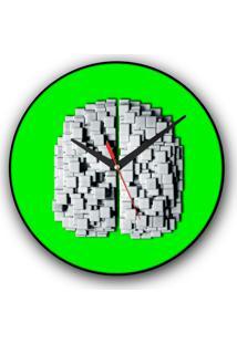 Relógio De Parede Colours Creative Photo Decor Decorativo, Criativo E Diferente - Cérebro De Pastilhas
