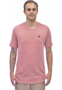 Camiseta Blanks Co Bks Importada Tri-Blend Redhtr Vermelho