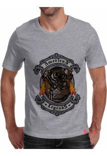 Camiseta Casual Sport American Legends Cinza