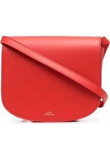 A.P.C. Logo-Print Shoulder Bag - Vermelho
