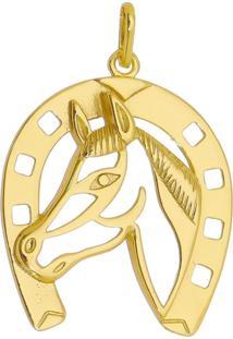 Pingente Cavalo Tudo Joias Folheado A Ouro 18K Dourada