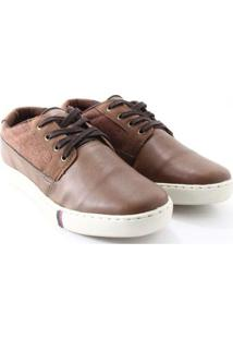 Sapatênis Strikwear Cadarço Masculino - Masculino-Caramelo