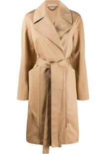 Stella Mccartney Trench Coat Com Cinto - Neutro