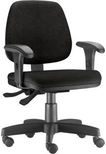 Cadeira Giratória Executiva Lyam Decor Job Corino Preto