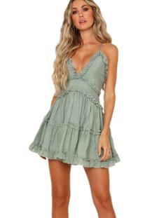 Vestido De Verão Alcinha Babados