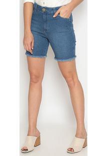 Bermuda Jeans Desfiada- Azul- Sisalsisal