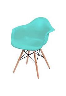 Cadeira Eames Com Braco Base Madeira Tiffanny Fosco - 43634 Branco
