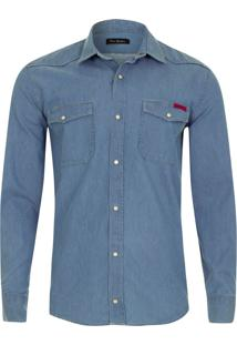Camisa Jeans Denim Índigo Soft