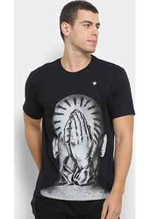 Camiseta Toiss Cabeça Masculina - Masculino-Preto