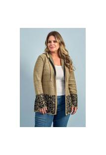 Casaco Mousse Feminino Plus Size Ref.52139