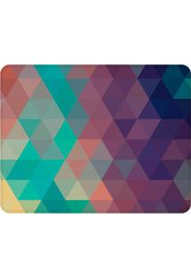 Tapete Geométrico Colorido- Roxo & Verde Água- 125X9Wevans