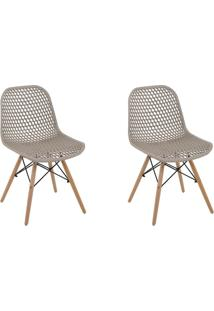 Kit 2 Cadeiras Decorativas Sala E Cozinha Haney (Pp) Gran Belo - - Dafiti