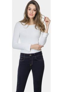Calça Jeans Skinny Cropped Belize Marinho Action - Lez A Lez