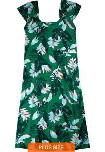 Vestido Verde Curto Tropical