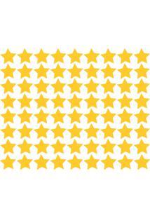 Adesivo De Parede Estrelas Amarelas 54Un