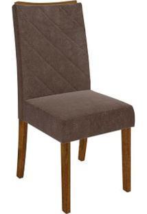 Cadeira Golden 2 Peças - Demolição - Suede Pena Marrom