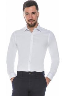 Camisa Raphy Clássica Quadriculada Branca - Masculino