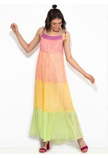 Vestido Marias Coloridas Estampado