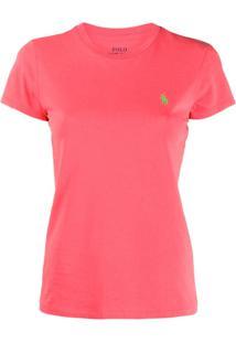 Polo Ralph Lauren Camiseta Com Logo Bordado - Vermelho