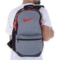212af596d Mochila Nike Brasilia Backpack M - 24 Litros - Cinza/Preto