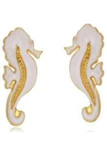 Brinco Le Diamond Cavalo - Feminino-Branco