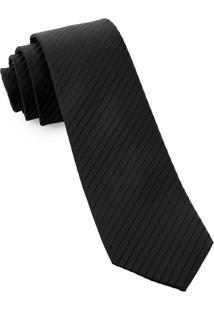 Gravata Slim Black Classic - Spc81