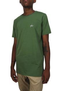 Camiseta Outlawz Long Line Signature-Verde Militar