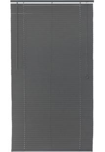 Persiana Horizontal Pvc Block 160X160Cm Cinza