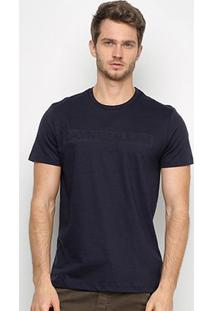 Camiseta Calvin Klein Manga Curta Masculina - Masculino-Marinho