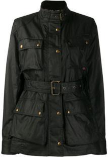Belstaff Belted Shell Jacket - Preto