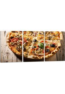 Quadro Canvas 60X120Cm Oppen House Pizza Gastronomia Lanches Vinhos Condimentos