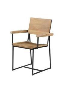 Cadeira York Com Braço Driftwood Base Grafite 83Cm - 53837 Preto