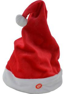 Gorro De Natal Som & Movimento- Vermelho & Branco- 3Mabruk