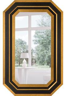 Espelho Decorativo Bolzano 82X132 Cm Dourado