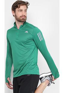 Camiseta Adidas Manga Longa Rs Ls Zip Masculina - Masculino
