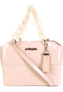 Bolsa Petite Jolie Tote Zip Bag Feminina - Feminino-Nude