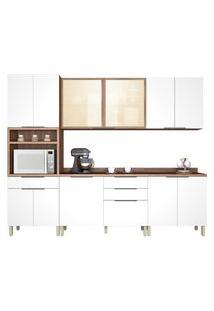 Cozinha Donna 5 Peças Nogal/Branco Nesher