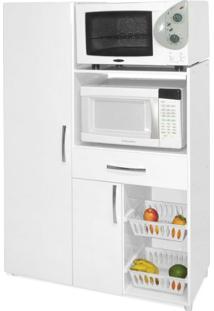 Armário De Cozinha Com Fruteira 2 Portas 1 Gaveta Mdp Branco Movelbento